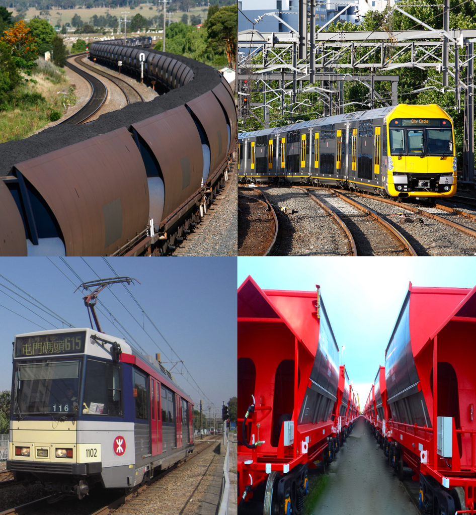 Quality inspection of rail rolling stock